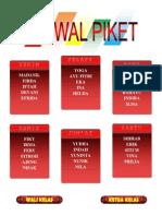 Membuat Jadwal Piket dan susunan pengurus kelas (word)