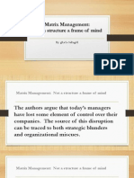 Matrix Management