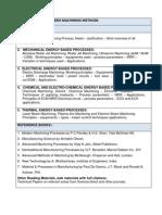 PhD Coursework Syllabus-Mechanical Engg.- Modern Machining Methods