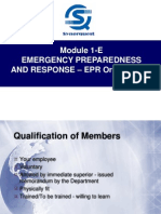 Module 1-E Emergency Preparedness