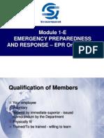 Module 1-E Emergency Preparedness