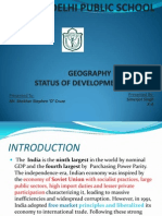 Indian Economy Features and Development