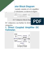 DC Voltmeter Block Diagram