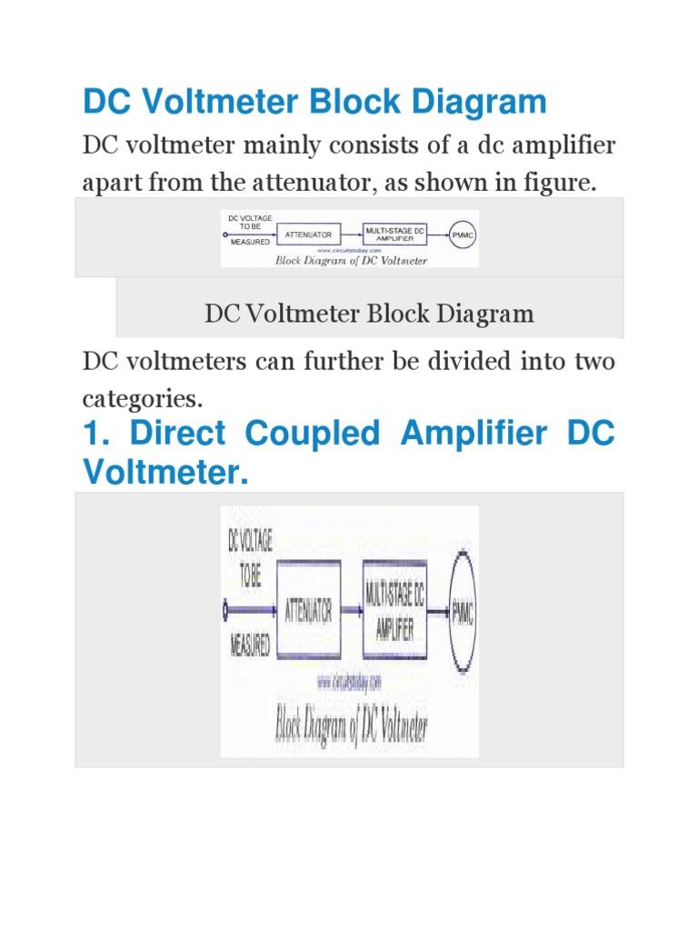 Dc Voltmeter Diagram Trusted Wiring Fet Circuit Schematic Block Amplifier Field Effect Transistor Simple Series