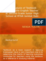 The Analysis of Textbook Used by the English