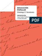 Domingo Faustino Sarmiento - Educación popular