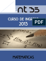 SIMELA Matematica Modulo 1 Ingreso2013