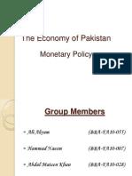 The Economy of Pakistan (Monetary Policy)