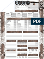 Scion Character sheet