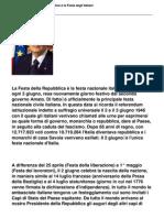 Il 2 giugno, festa della repubblica è la festa degli italiani