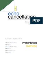 Echo Cancellation Ian Hung