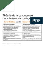 4 facteurs contingence