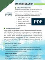 PPDM Education Brochure 2012