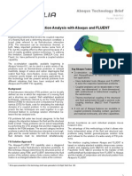 Fluid Structure Interaction Analysis With Abaqus and FLUENT