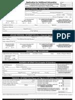 Subway Application Form