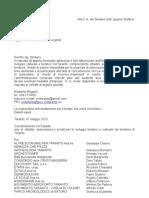 Aree Demaniali - Richiesta Incontro Urgente Al Sindaco (6.5.13)