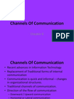 Channels of Communication - Chap 6
