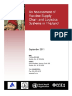 Assessment of Vaccine Supply Chain in Thailand