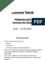Ekonomi Teknik 20130416