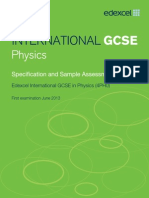 Physics Spec, SAM 2013 IGCSE