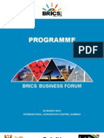BRICS Business Session Programme