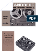 Manuel for the Tandberg SL-15 Reel to Reel Player (1968)