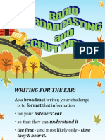 Presentation 2 Radio Broadcasting and Script Writing