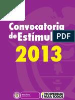 Convocatoria de Estímulos 2013 (2)