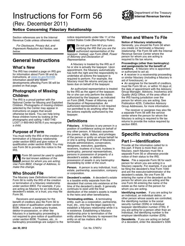 i56.PDF Irs Fiducrity | Internal Revenue Service | Trust Law