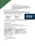 Quantitative and Qualitative Evaluation Methods