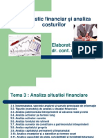 Analiza situatiei financiare