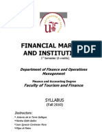 Financial Systems and Markets