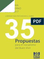 Programa de Gobierno 2013-2017