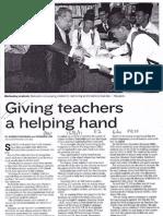Giving Teacher a Helping Hands
