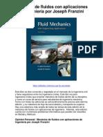 Mecánica de fluidos con aplicaciones de ingeniería por Joseph Franzini - Averigüe por qué me encanta!