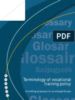 MULTILINGUAL GLOSSARY OF VOCATIONAL TRAINING-RELATED TERMS