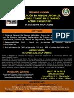 SEMINARIO LEGISLACION 2013