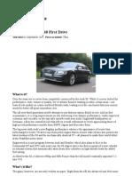 Car Audi s8 2012 Review