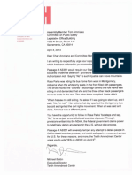 TAC Letter in Support of AB351, California Liberty Preservation Act