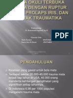 TRAUMA OKULI TERBUKA DEKSTRA DENGAN RUPTUR KORNEA,.pptx