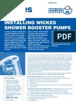 Installing Shower Pump