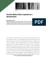 Gordon Matta Clark Arquitetura e Apropriacoes