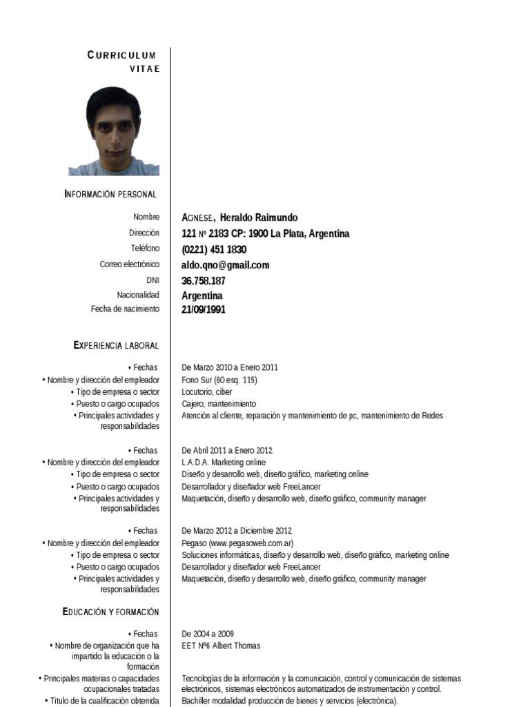 Dorable Objetivo De Curriculum Vitae Desarrollador Web Viñeta ...