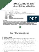 NOM-001-SEDE 2012