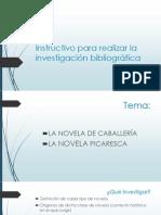 Instructivo para realizar la investigación bibliográfica