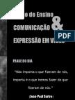 Aula 01- Plano de Ensino Comunicação e Expressão em Vídeo