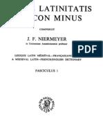 Niemeyer - Mediae Latinitatis Lexicon