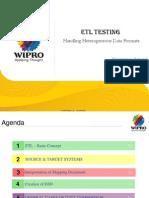 ETL TESTING-Handling Heterogeneous Data Formats