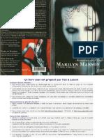 Marilyn Manson - Mémoires de L'Enfer (Autobiographie)