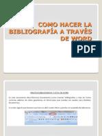 Como Hacer La Bibliografia a Travez de Word